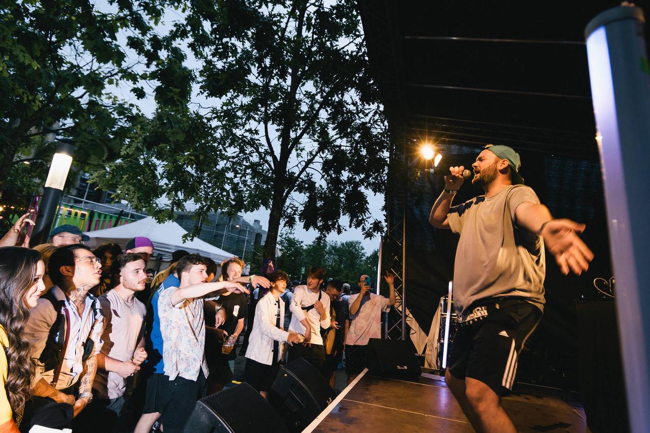 C'est dans le Rockhal Garden que se tient le festival Screaming Fields, un festival dédié à la découverte de jeunes talents. (Photo: BorisPatzek)