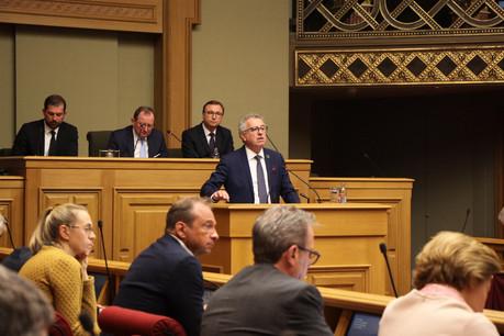 Le ministre des Finances n'a pas manqué de souligner la place centrale de la finance dans l'économie luxembourgeoise et dans les ambitions du gouvernement en matière de lutte contre le changement climatique. (Photo: Chambre des députés)