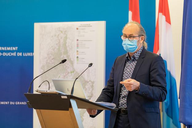 Claude Turmes (déi Gréng), ministre de l'Aménagement du territoire, a présenté les plans sectoriels.  (Photo: DATer)