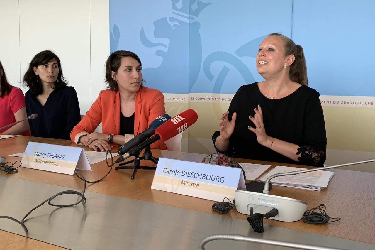 Carole Dieschbourg, ministre de l'Environnement, a présenté le projet Zero Single-use Plastic. (Photo: IMS)
