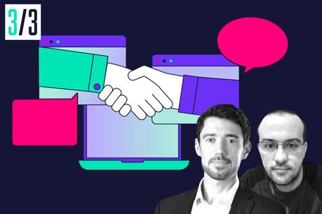 Brice Zossi (Head of Technology) et Silvio Cardoso (développeur) nous parlent de leur recherche . (Crédit: Maison Moderne)