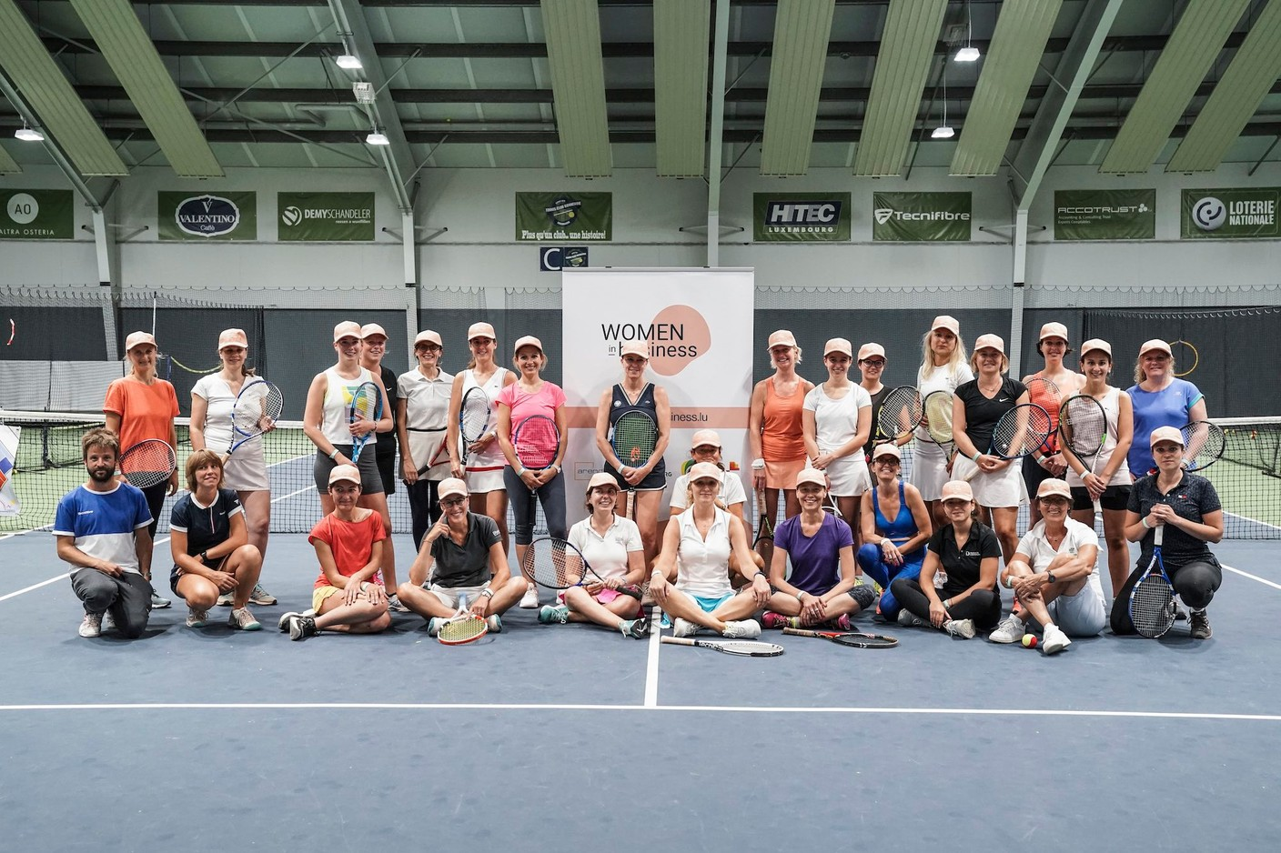 Participants in the first edition of the WIB Tennis Challenge, 9 September 2021. Photo credit: WIB/A. Dehez