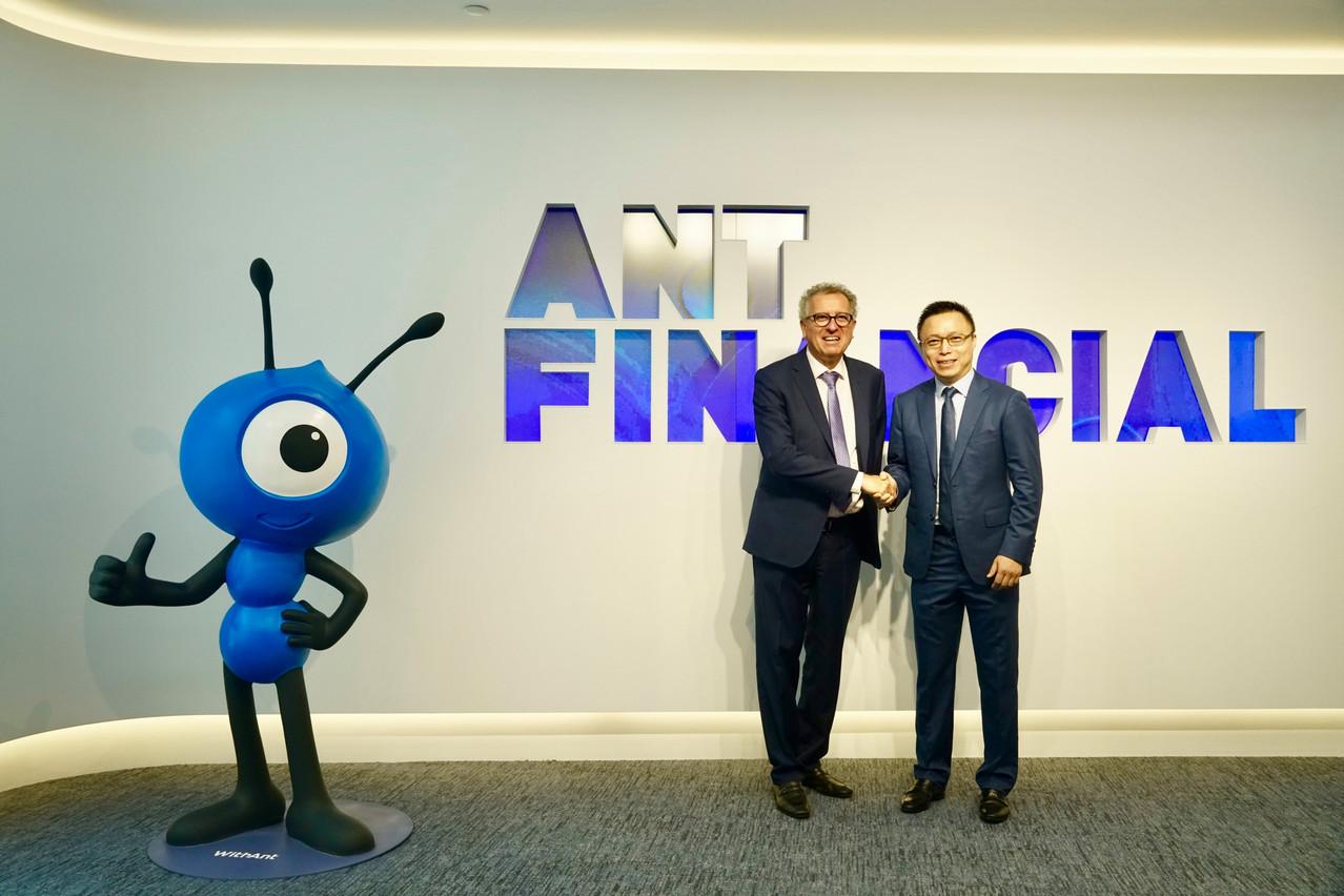 Le ministre des Finances Pierre Gramegna a rencontré en septembre 2018 Eric Jing, CEO d'Ant Financial àHangzhou. (Photo: Consulat Shanghai)