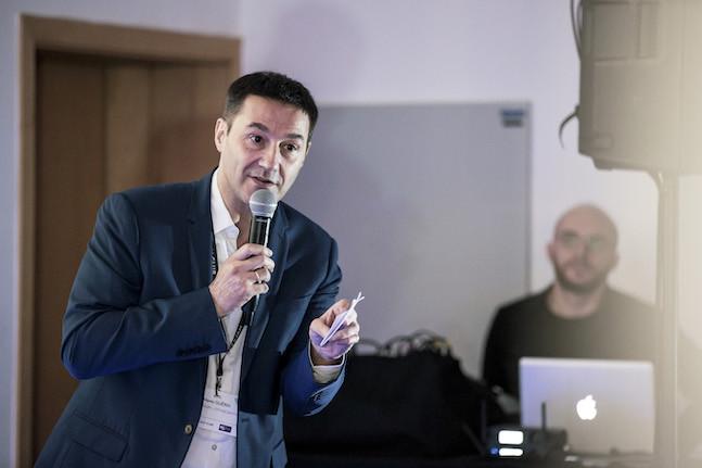 Martin Guérin, le CEO du Luxembourg-City Incubator, défend toujours la rencontre de mondes qui ne se parlent pas assez. Celui des entreprises établies et celui des start-up. Au Loic, par exemple. (Photo: Jan Hanrion / Maison Moderne)