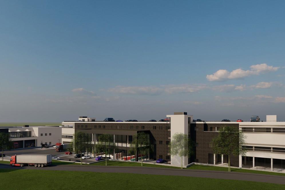 «Grand Cap» sera construit derrière le magasin Kichechef, dans la zone d'activité de Capellen, située sur le territoire de la commune de Mamer. (Visuel: Inowai)