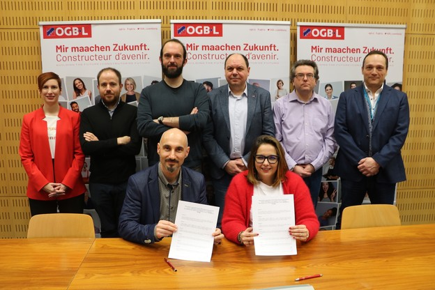 L'Adesp et l'OGBL ont signé un accord de coopération chargé de symbole, alors que la CGFP demeure le syndicat dominant dans la fonction publique. (Photo: OGBL)
