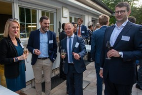 Justyna Radziejewicz (CFL), Konrad Staniecki (Axa), Artur Sosna (LPCC), Joël Butkiewicz-Jung (AKD Luxembourg)   Luxembourg-Poland Chamber of Commerce