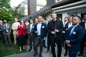 Jarosław Kokoszka (Q Securities), Diego Mestre (RBS), Franck Leprevost (University of Luxembourg), Katarzyna Białek (LPCC), Anne Leprevost, Buu Huynh (ING), Dariusz Landsberg (Fundequate, Genprox), Simon Bodjanski (Independent Minds), Mateusz Pondel (AQTEEV), Łukasz Małecki (Alter Domus), Tomasz Matczuk (MWW Law)  Luxembourg-Poland Chamber of Commerce