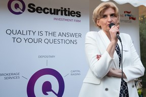 Agnieszka Sawa of Q Securities, which sponsored the event  Luxembourg-Poland Chamber of Commerce