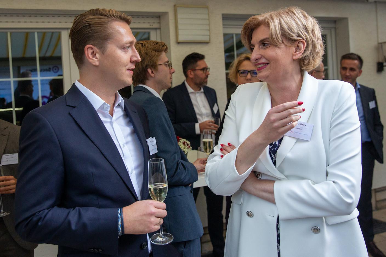 Filip Suchta (MWW Law), Agnieszka Sawa (Q Securities)  Luxembourg-Poland Chamber of Commerce