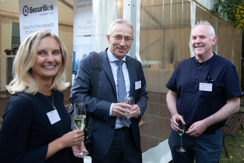 Olena Solska (Q Securities), Piotr Zaczek (Q Securities), Declan O'hannrachain  Luxembourg-Poland Chamber of Commerce