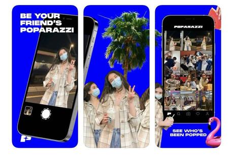 La nouvelle coqueluche du moment, Poparazzi, invite à faire des photos de ses amis et de ses contacts et à ne pas les retoucher avant de les publier. Moins narcissique qu'Instagram. (Photo: Poparazzi)