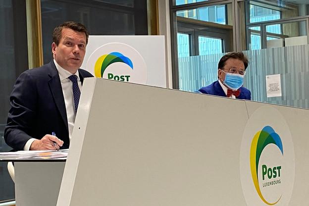 Pour le directeur général de Post, Claude Strasser, et le président du conseil d'administration, Serge Allegrezza, 2020 aura été une année révélatrice des forces de Post. (Photo: Maison Moderne)