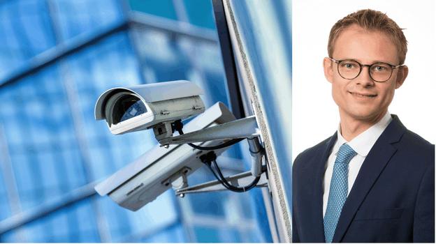 LaurentMagnus de la CNPD explique pourquoi Lydie Polfer ne peut pas installer de système de vidéosurveillance. (Photos: Shutterstock; LaurentMagnus. Montage: Paperjam)