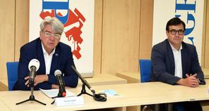 Romain Wolff (à gauche), président de la CGFP et de la Chambre des fonctionnaires et employés publics, dénonce un manque de concertation et la négligence de la voix de la CHFEP. (Photo : CGFP)
