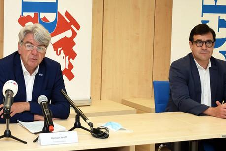 RomainWolff (à gauche), président de la CGFP et de la Chambre des fonctionnaires et employés publics, dénonce un manque de concertation et la négligence de la voix de la CHFEP. (Photo: CGFP)
