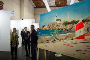 Sam Tanson (Ministre de la Culture), S.A.R. le Grand-Duc Henri et Jo Kox (Ministère de la Culture) ((Photo: Mike Zenari))