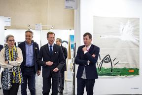 Sam Tanson (Ministre de la Culture), Jo Kox (Ministère de la Culture), S.A.R. le Grand-Duc Henri et Alex Reding (Directeur de Luxembourg Art Week) ((Photo: Mike Zenari))