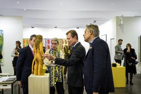 Alex Reding (Directeur de Luxembourg Art Week), Sam Tanson (Ministre de la Culture), S.A.R. le Grand-Duc Henri et Jo Kox (Ministère de la Culture) ((Photo: Mike Zenari))