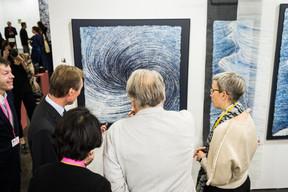 Alex Reding (Directeur de Luxembourg Art Week), S.A.R. le Grand-Duc Henri et Sam Tanson (Ministre de la Culture) ((Photo: Mike Zenari))