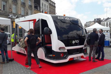 L'Air'Volution est un véhicule de collecte des déchets qui ne pollue pas et ne fait pas de bruit, créé par la société luxembourgeoise MDI. (Photo: MDI)