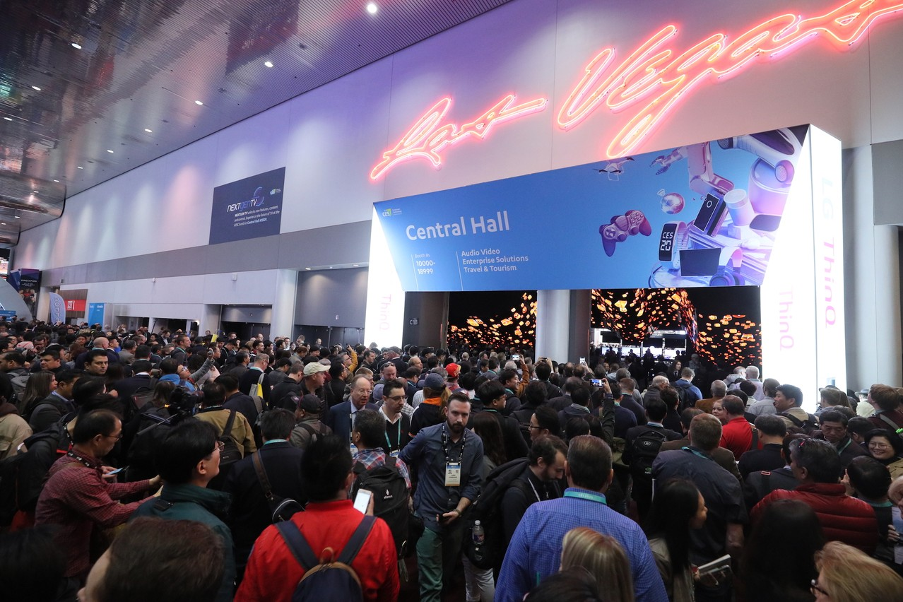 Ça se bouscule à l'entrée du Consumer Electronics Show de Las Vegas, où une centaine de Luxembourgeois sont attendus jusqu'à vendredi. (Photo: CES)