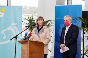 Le ministre des Sports, Dan Kersch (LSAP), était aussi présent lors de la conférence de presse. ((Photo: Caroline Martin))