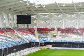D'un coût initial estimé autour de 60 millions d'euros, le budget a depuis été revu à la hausse: le budget du projet remanié s'élève à 76 millions d'euros. Le projet est subventionné par le ministère des Sports à base de 70%, plafonnés à 40 millions d'euros. ((Photo: Caroline Martin))