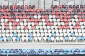Le stade de football et de rugby comprend un terrain de jeu avec 9.385 places assises couvertes pour les spectateurs. ((Photo: Caroline Martin))
