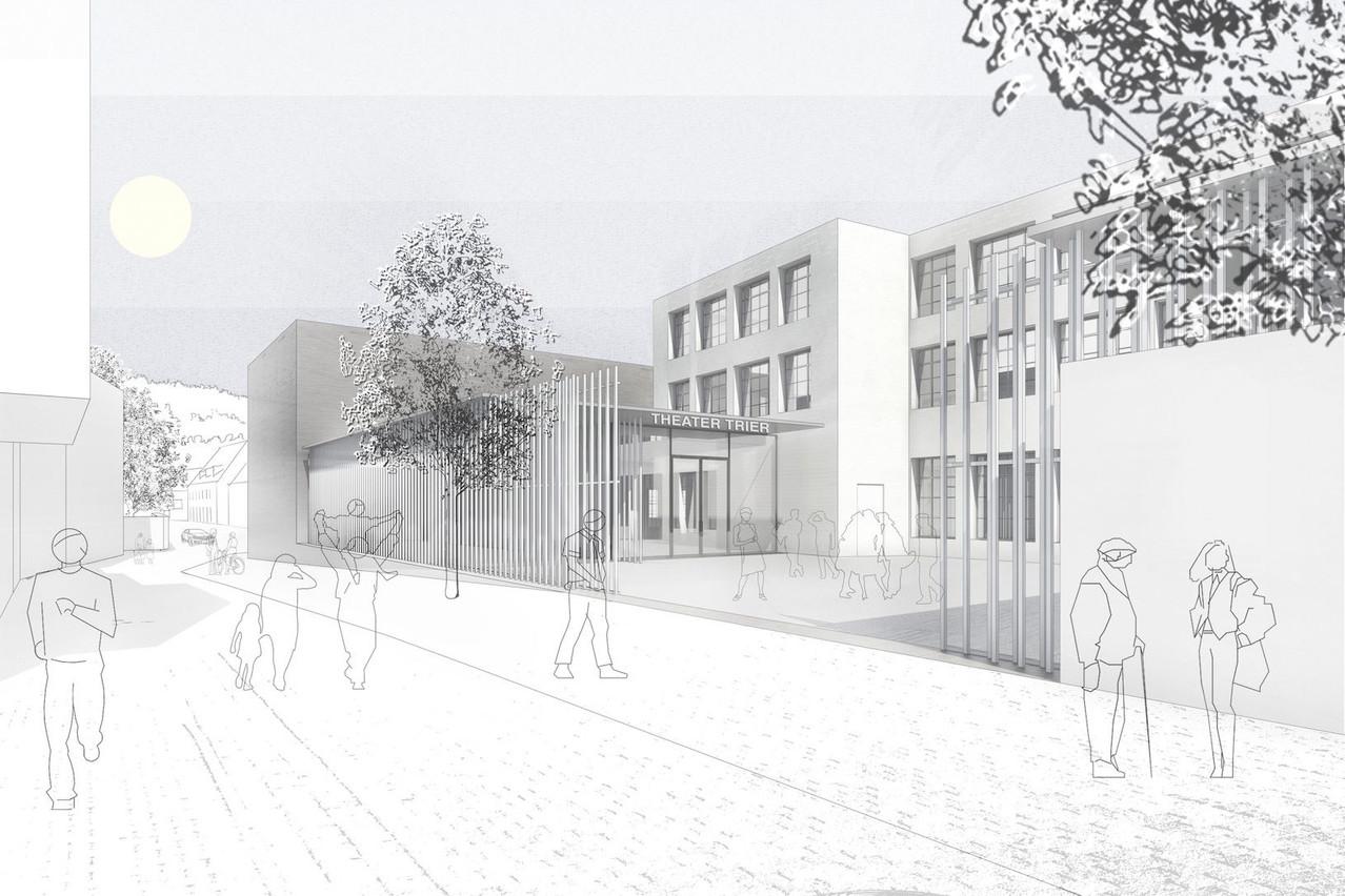 La TUFA à Trèves va être rénovée et agrandie par Paul Bretz Architectes, en collaboration avec BPA Architecture. (Illustration: Paul Bretz Architectes)