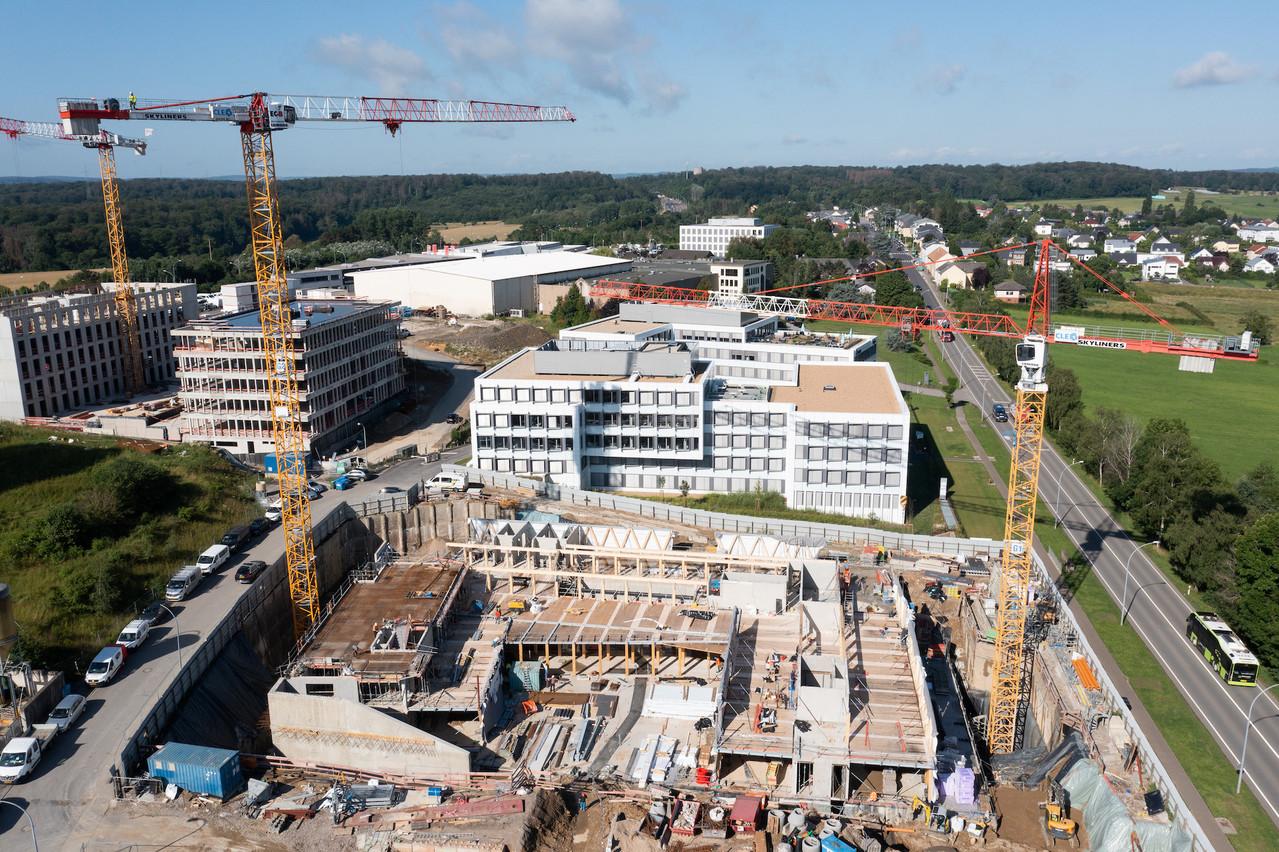 Le chantier de l'immeuble Wooden est lancé à Leudelange. (Photo: Wili)