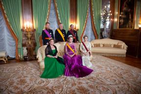 S.A.R. le Grand-Duc, S.A.R. la Grande-Duchesse, S.M. le Roi des Belges, S.M. la Reine des Belges, S.A.R. le Grand-Duc héritier et S.A.R. la Grande-Duchesse héritière ((Photo: Anthony Dehez))