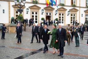 S.A.R. le Grand-Duc, S.M. la Reine des Belges et S.M. le Roi des Belges ((Photo: Anthony Dehez))