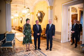 S.M. la Reine des Belges, Jean Asselborn (Ministre des Affaires étrangères) et S.M. le Roi des Belges ((Photo: Anthony Dehez))