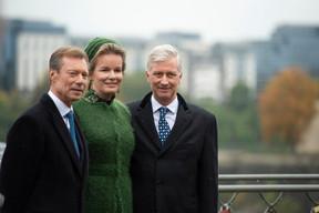 S.A.R. le Grand-Duc, S.M. la Reine des Belges et S.M. le Roi des Belge ((Photo: Anthony Dehez))