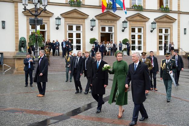 S.A.R. le Grand-Duc, S.M. la Reine des Belges et S.M. le Roi des Belges (Photo: Anthony Dehez)