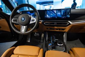 Dans la nouvelle iX, on reconnaît facilement la touche BMW. ((Photo: BMW/Diana Sellier))