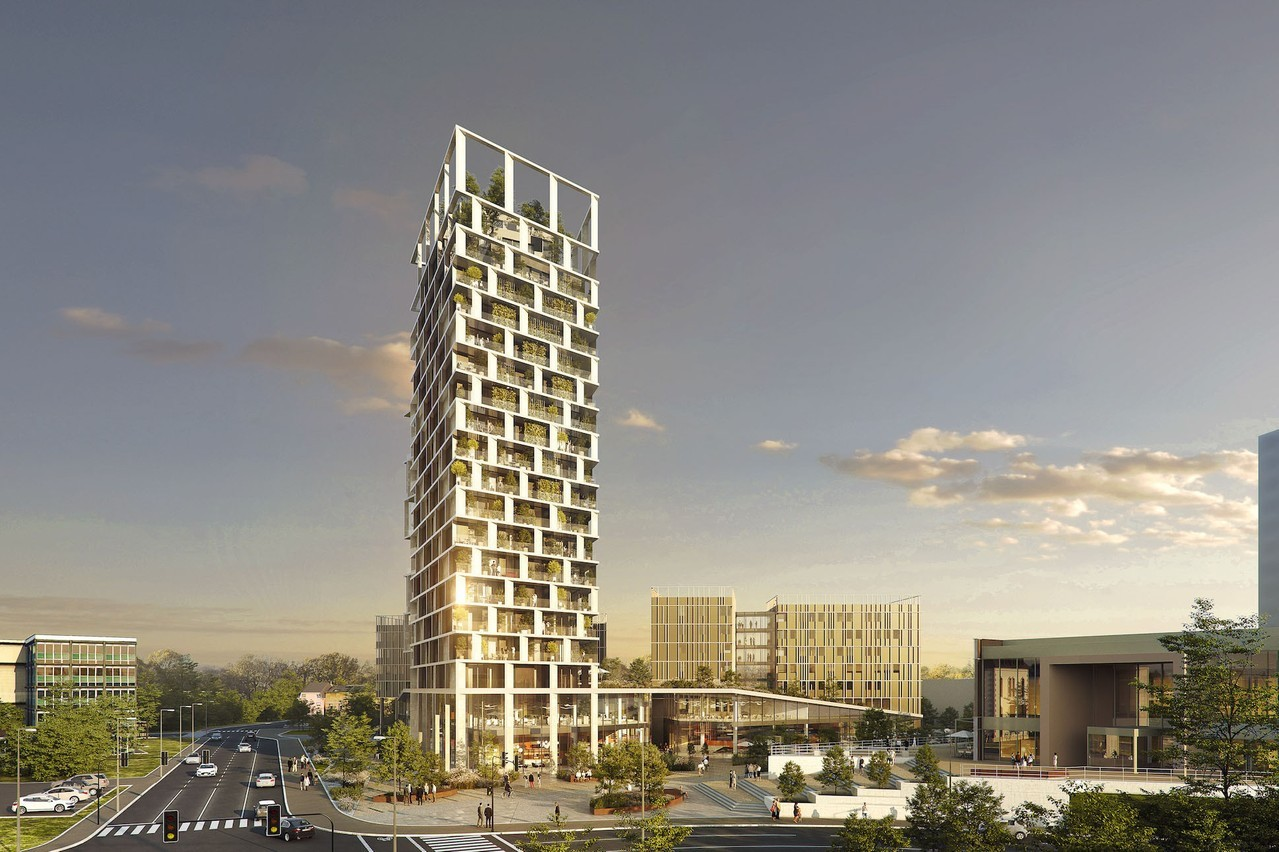 La tour sera terminée en 2023 et sera haute de 20étages. (Illustration:  Petit DidierPrioux Architectes et Moreno Architecture & Associés)