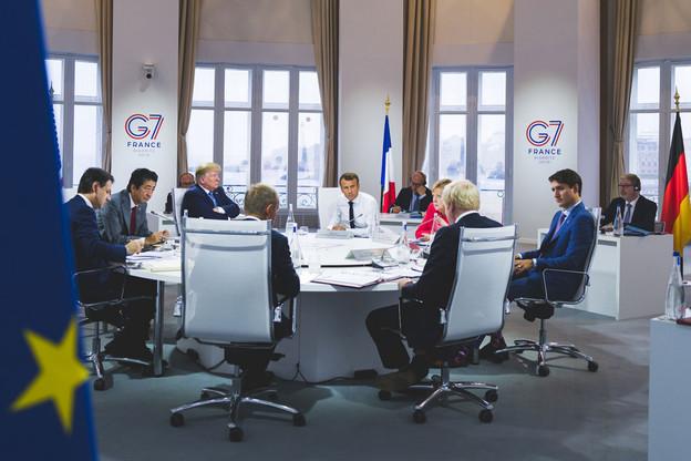 Le G7 va débloquer une aide d'urgence de 20 millions de dollars (17,9 millions d'euros) pour l'Amazonie. (Photo: G7 / Élysée)
