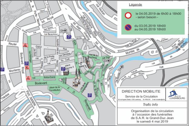 Une partie de la Ville Haute sera fermée à la circulation dès ce jeudi 18h et jusque samedi 18h. ( Illustration: Ville de Luxembourg)
