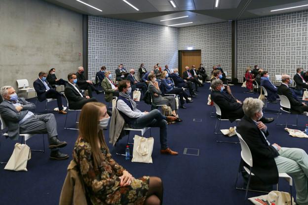 La Commission de surveillance du secteur financier a présenté mardi 20 octobre un livre et un documentaire réalisés sur l'exercice de la surveillance financière depuis 1945. (Photo: Romain Gamba/Maison Moderne)
