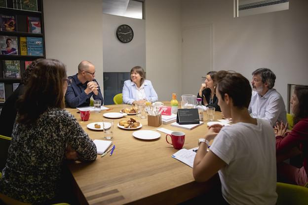 Corinne Lamesch est venue expliquer ses priorités à la rédaction de Paperjam ce vendredi 6 septembre. (Photo: Patricia Pitsch /Maison Moderne)
