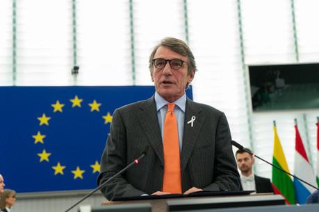 David Sassoli respecte une quarantaine de 14 jours, par mesure de précaution.  (Photo: Parlement européen)
