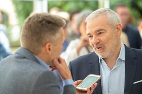 À droite, Dan Kersch (Ministre de l'Emploi, du Travail, de l'Économie sociale et solidaire) ((Photo: Anthony Dehez))
