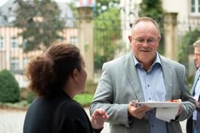 À droite, Romain Schneider (Ministre de la Sécurité sociale) ((Photo: Anthony Dehez))