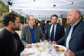 À droite, Xavier Bettel (Premier ministre) ((Photo: Anthony Dehez))
