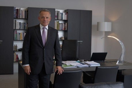 GuyHoffmann, président de l'ABBL, se montre favorable à la prolongation de l'accord avec les huit banques de la Place. (Photo: Nader Ghavami/Archives)