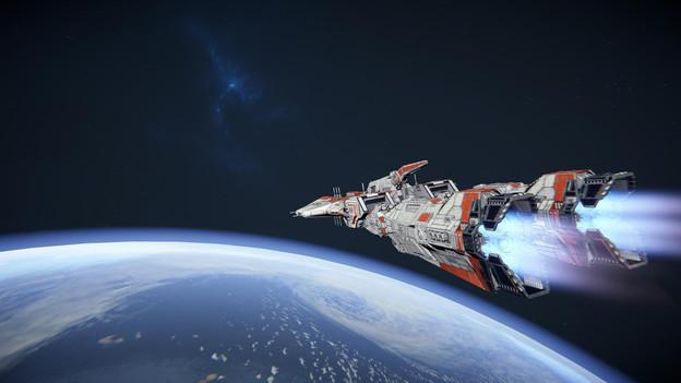 Une des esquisses des futurs vaisseaux de la Force, l'United Sol Federation Combined Fleet, est opposée à des extraterrestres exterminateurs d'humains, les Atrox. (Photo: Pixelmatic)