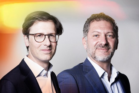 Augustin De Longeaux (à gauche), partner – Investment Funds, et Thierry Somma (à droite), partner – Corporate, M&A, chez Simmons & Simmons. (Photo: Maison Moderne)