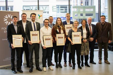 Six étudiants ont été récompensés pour leurs travaux de fin d'études par le Prix d'excellence. (Photo: Fondation Enovos)
